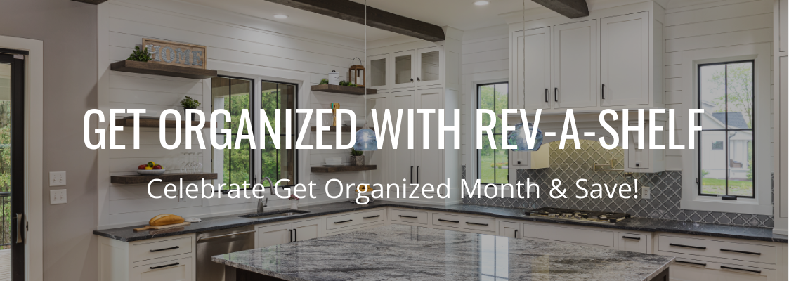 Woodworker's Hardware Get Organized Month with Rev-A-Shelf